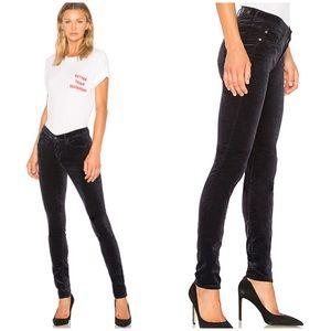 AG Denim The Legging skinny velvet pants